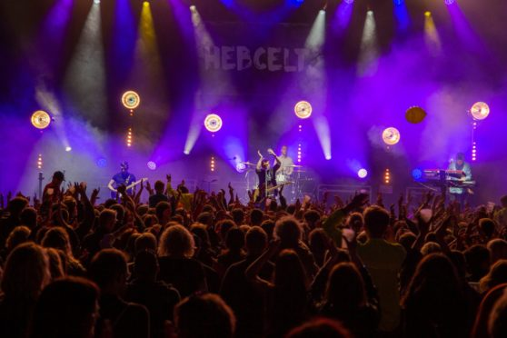 Tide Lines headlined the HebCelt 2019 festival after playing at the previous two years events. Picture by Fiona Rennie.