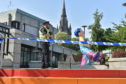 A police cordon has been set up at the Top Deck of the St Nicholas Centre in Aberdeen