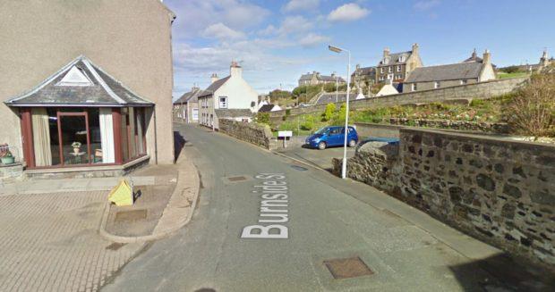A Google Street map view looking down Burnside Street