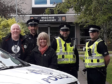 Sergeant Chris Smith, Louise Moir Head at Mackie Academy, Special Constables Steve Ferguson and Neil Duncan and Pc Ian Duncan from Stonehaven CPT.
