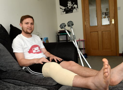 Highland League footballer, Dane Ballard has thanked those who donated more than £6,000 so he could have career-saving surgery.