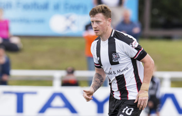 Shane Sutherland has netted nine goals for Elgin so far this term.