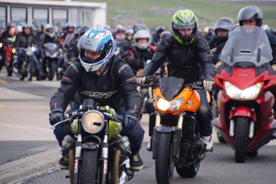 Shetland charity bike parade. Photo by Terri Mackay
