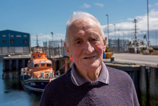 Jack Provan is celebrating 60 years of involvement with the Fraserburgh RNLI