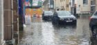 Flooding hit Elgin High Street.
