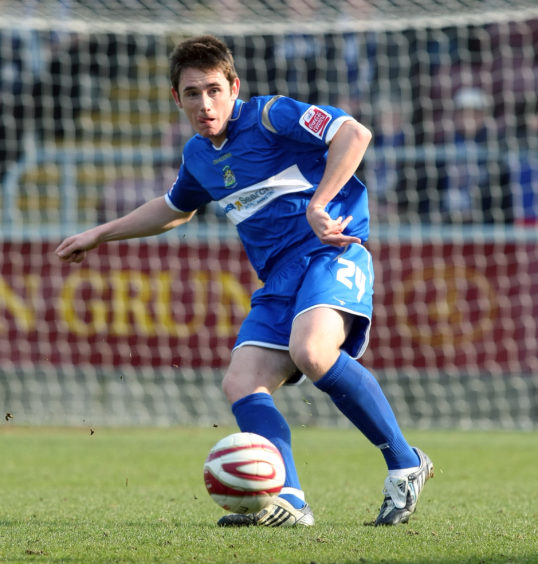 Greg Tansey in action for Stockport County  in action during a League One match against Northampton Town in March 2009. Picture by Pete Norton/Getty Images