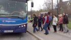Braemar residents boarding the bus