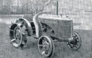 A period photo of the David Brown VAK1 fitted on iron wheels - although pneumatic versions were available, the shortages during WWII meant rubber tired versions were scarce.