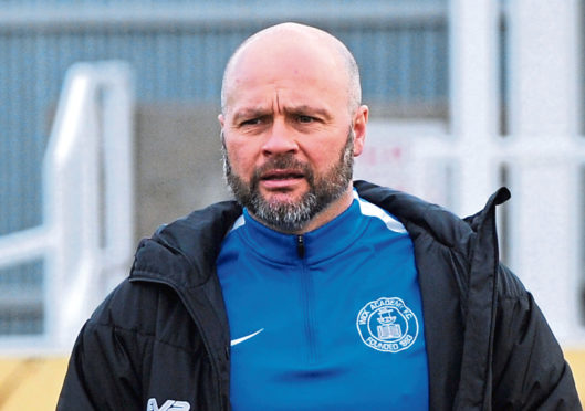 Wick Academy manager Tom McKenna.  Picture by KENNY ELRICK     23/02/2019