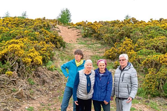 L-R: Annie Crawford, Jill Denton, Daphne Francis and John Atkinson.