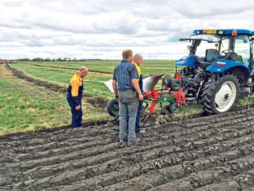David Carnegie, Andrew Mitchell Snr and Scottish coach Alistair Brown, who is one of the judges, are looking forward to the 66th World Ploughing Championships.