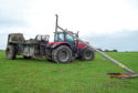 Farmers are asked to call 105 if their machinery comes into contact with an overhead powerline, like this tractor did.