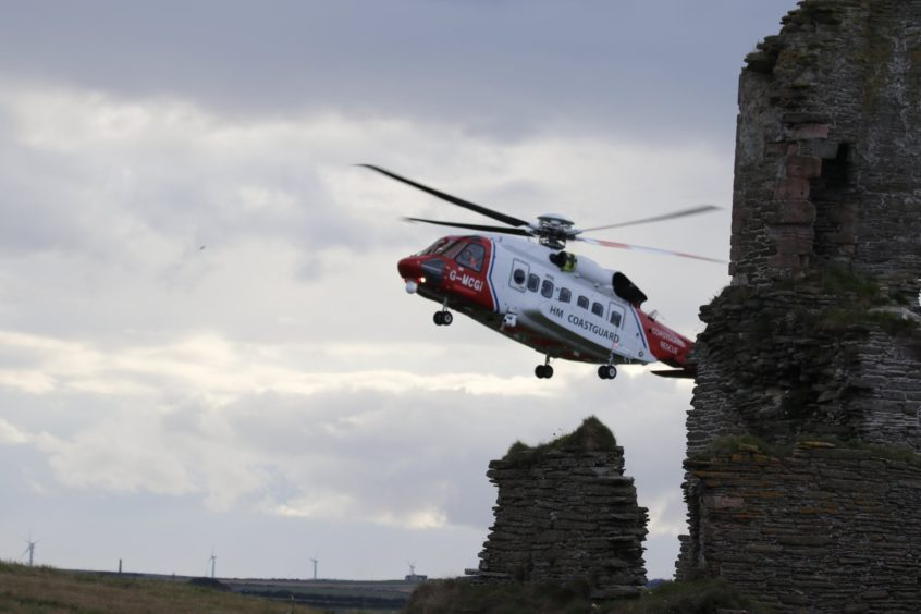 It had been planned to take the casualty from the gully by rope pulley