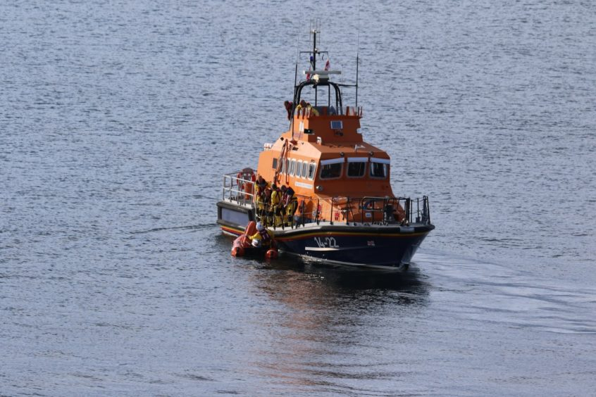 The crew launched their smaller Y boat to gain access to the gully