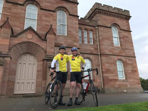 Ewan MacDonald and Gavin Johnston departed Inverness on Wednesday with the aim of completing the 516 mile route in under their targeted time of 40 hours