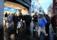 Shoppers on Union Street, in Aberdeen.