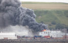 The fire at Scrabster Seafoods Factory.