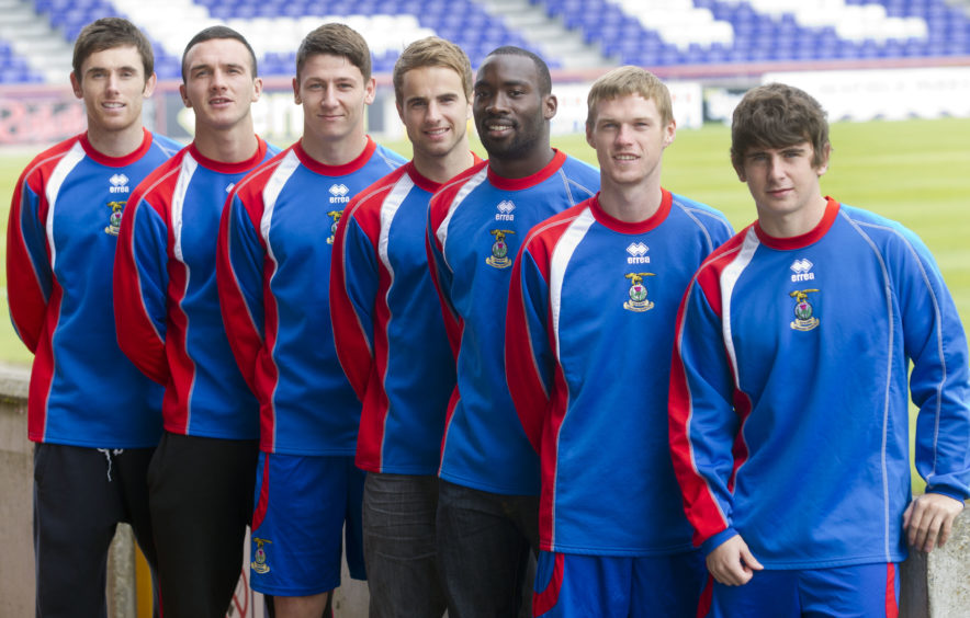 Tansey was one of seven signings for ICT in the summer of 2011, alongside (left to right): Tom Aldred, Josh Meekings, Andrew Shinnie, Gregory Tade, Billy McKay and Aaron Doran.