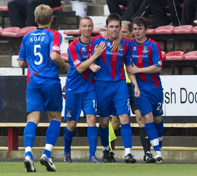 Tansey scored his first goal for ICT against Dunfermline in August 2011.
