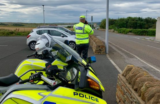 Police operation on the North Coast 500 route.