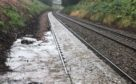 Flooding on the railway lines between Aviemore and Inverness.