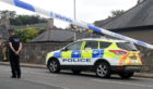 Pictured is the police incident in Ellon