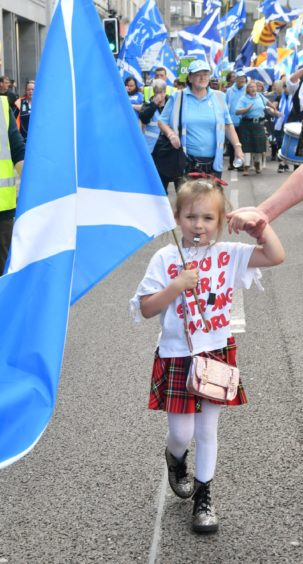 'It shows the desire for independence': Organisers of Aberdeen indy march