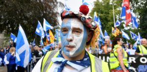 The Independence march in Aberdeen. Pictures and video by Chris Sumner
