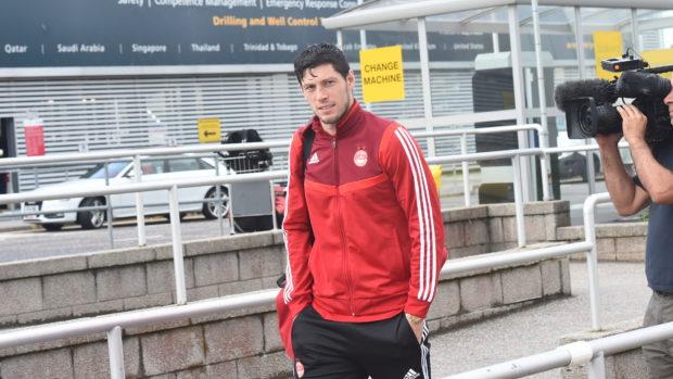 Scott McKenna at Aberdeen Airport.