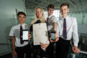 Ellis Saunders, Luisa Bokor, Matthew Hamilton, Daniel Campbell from Elgin Academy all got five As in their Higher exams.