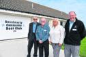 Rosehearty Sailing Club president Ian Downie, treasurer Robbie Watt, community council chairwoman Elly Morrice and secretary Graham Souter.
