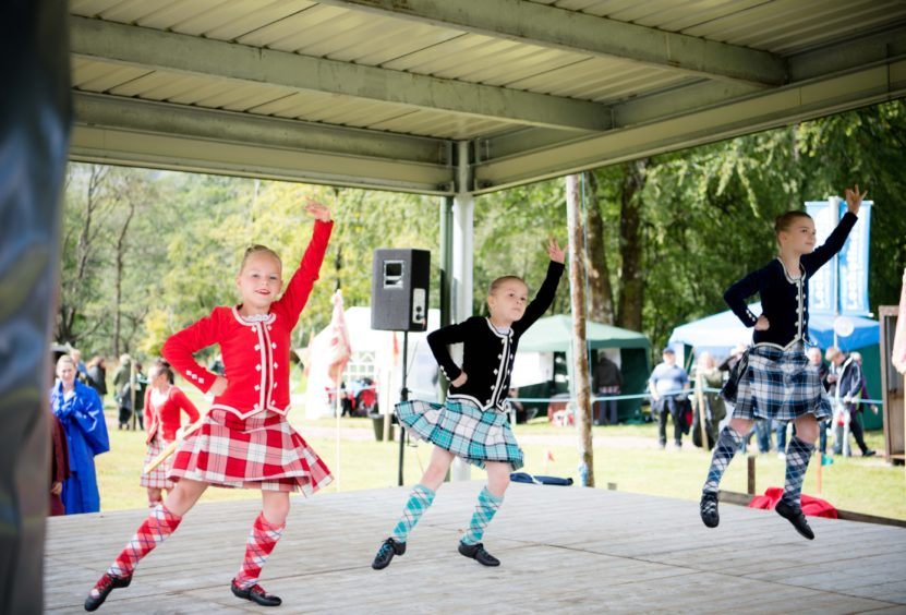 Youngsters dance the Highland fling
