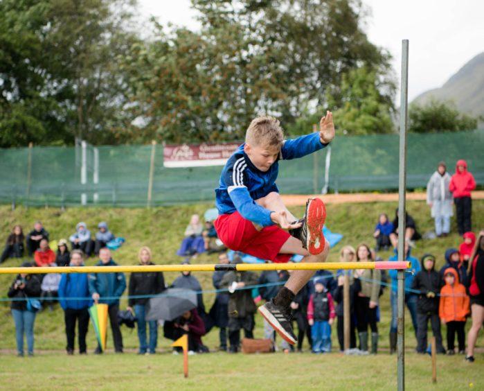 Young Shane O'Rua takes on the high jump
