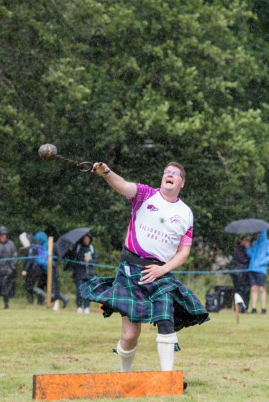 Heavies competitor Angus McPhail in action.
