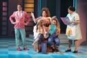 The show features Joe McElderry as Garry (pink jacket) and Kate Robbins as Consuela the Spanish cleaner.