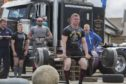 Michael Elder, Thurso, takes the strain during the John O'Groats Strongest Man competition