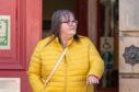 Jane Sandison leaving Elgin Sheriff Court.