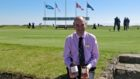 Neil Hampton, the club's general manager, pictured with the new single malt whisky