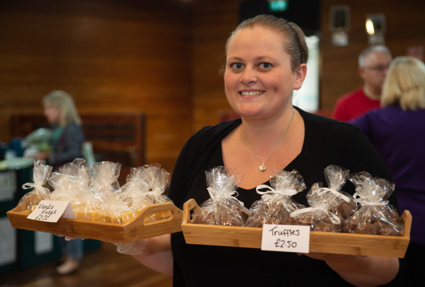 Racheal Morrice from Louby's Little Bakery in Aberdeen at Elgin Food and Drink Festival 2019