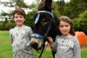 (L-R) Harrison Seivwright, 7, and Ellie MacLechlan, 6.  Picture by Kenny Elrick