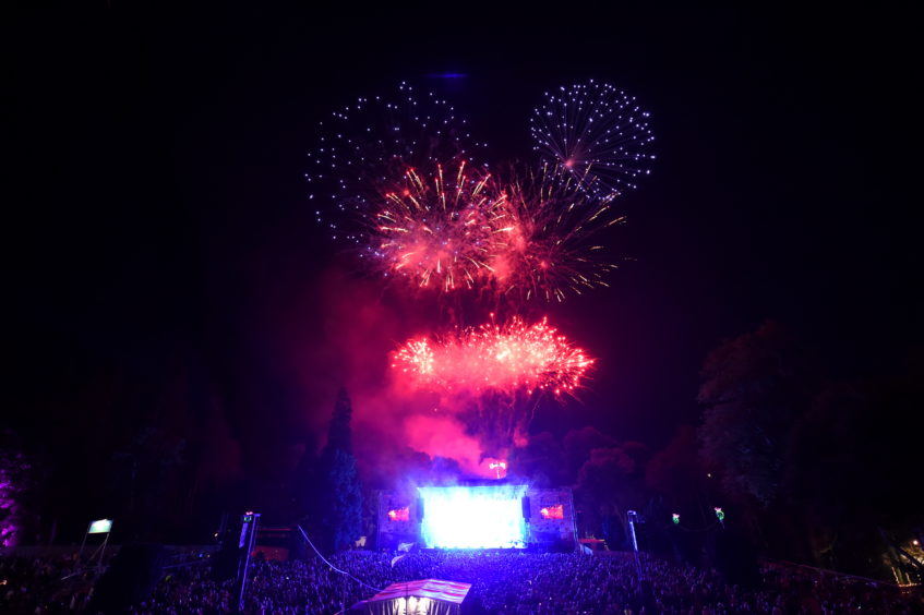 The fireworks display closed the festival. Picture by Kenny Elrick