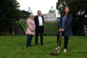 The first turf is cut at Union Terrace Gardens in advance of work beginning on site to transform the city centre park.