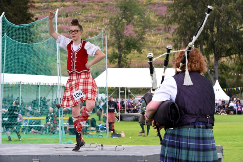 Highland dancers.  Picture by KENNY ELRICK