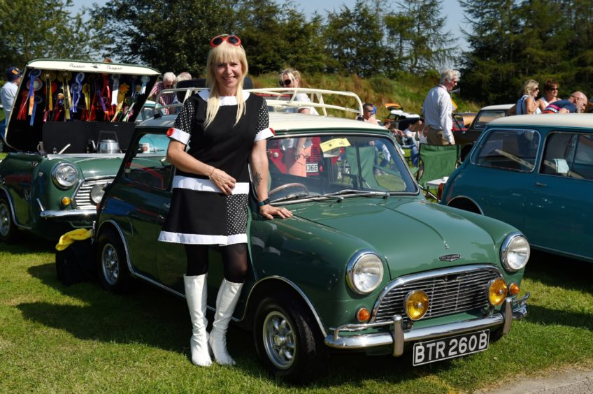 Fiona Johnson with her 1964 Cooper s.  Picture by KENNY ELRICK