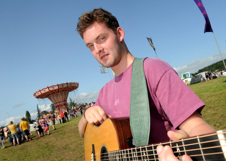 Keir Gibson of Fort William launched a debut album.. Picture by Sandy McCook