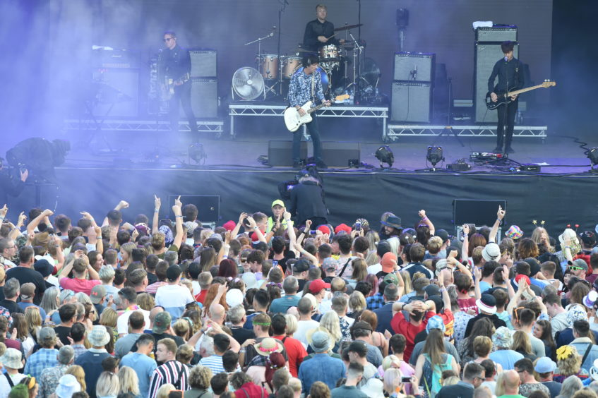 Johnny Marr on stage. Picture by Sandy McCook