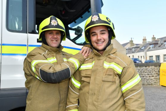 North-east father inspires son and now they fight fires side