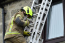 The gull was brought safely down from the roof by Fraserburgh fire fighters