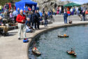 MODEL BOAT ENTHUSIASTS FROM ALL OVER SCOTLAND ATTENDED THE TARLAIR POOL GALA.