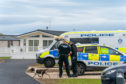 Police searched the Silver Sands holiday park near Lossiemouth.